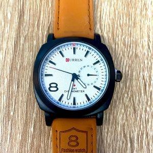 Men's Watch Curren GMT - Tan Strap